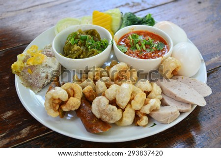 Set of northern thai food - stock photo