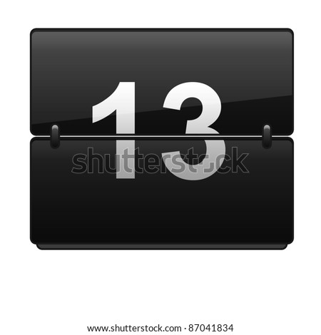 Set of numbers - stock photo