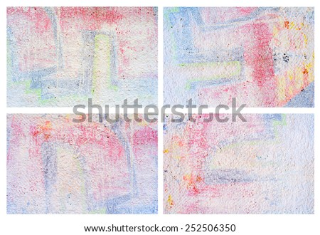 set of old grunge textures - stock photo