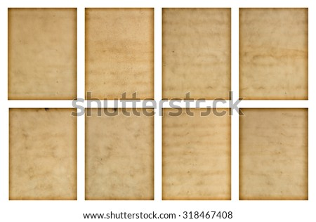 set of old paper - stock photo