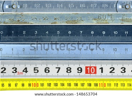 Set of old rules - stock photo