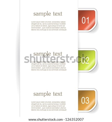 Set of paper stickers