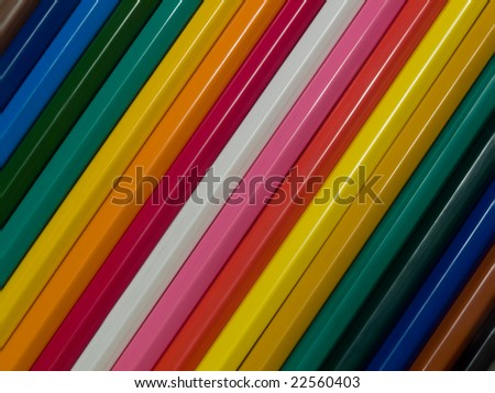 set of pencils lyings under an angle