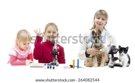 set of people and pets