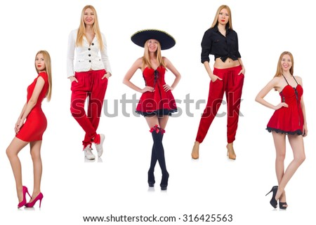 Set of photos in fashion concept