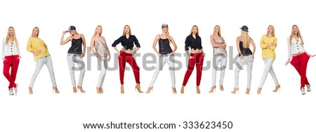 Set of photos in fashion concept - stock photo