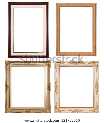 Set of picture frame on white background