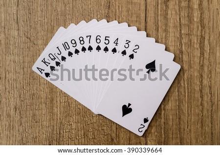 Set of playing cards poker casino - stock photo