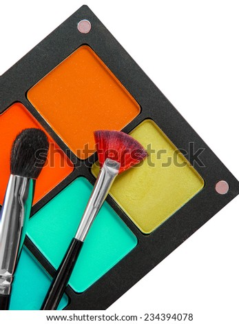 Set of professional makeup and cosmetics. Isolated on a white background isolated - stock photo