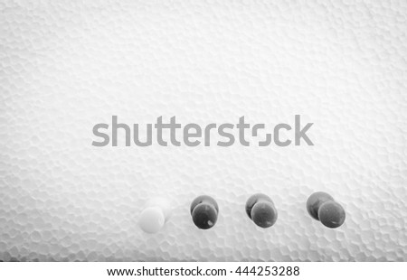 Set of push pins in different colors, dark color - stock photo