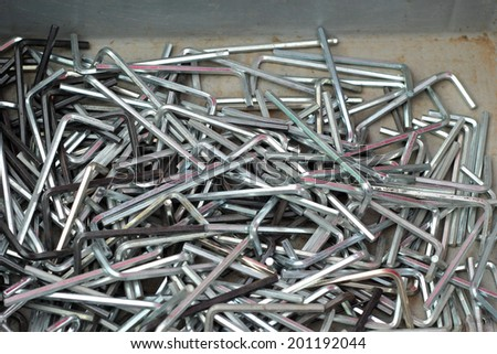 set of real used stainless - stock photo