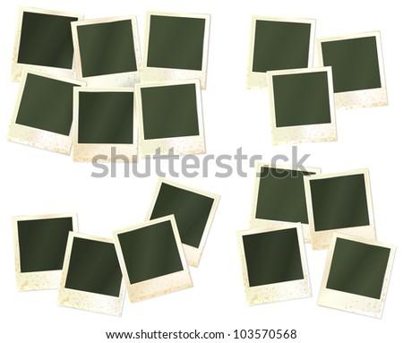 set of realistic photo frames - stock photo