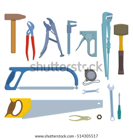 Set of repair tools icons.