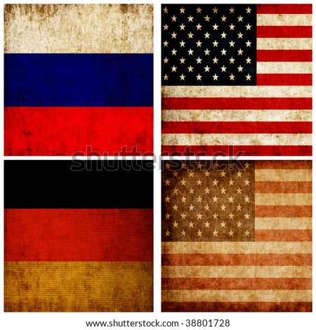 Set of several flags - stock photo