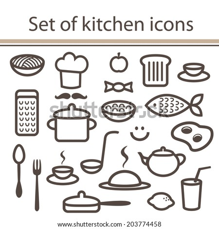 Stock images royalty free images vectors shutterstock for Simple kitchen set