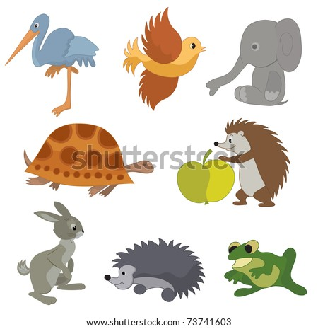 set of  small animals
