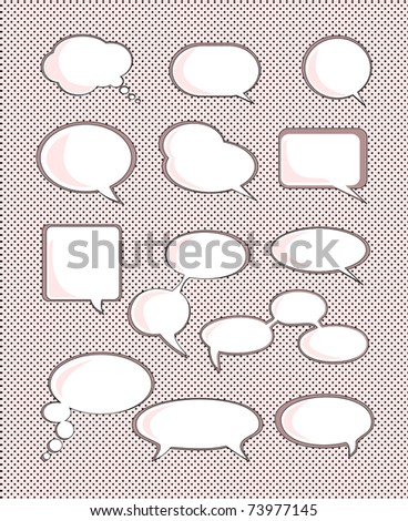 Set of speech bubble with space for your text