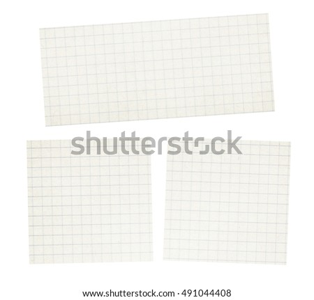 Set of squared light grey, white copybook, notebook paper texture