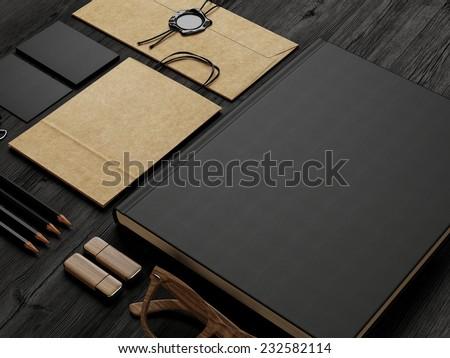 Set of stationery elements - stock photo