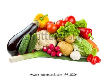 Set of tasty vegetables - stock photo