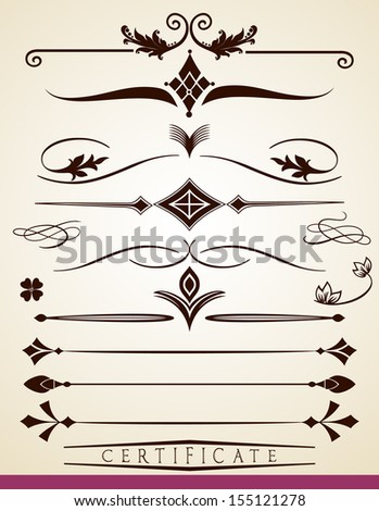Set of text dividers and decorations, vector file is also available - stock photo