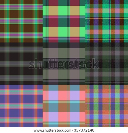 Set of textile patterns - stock photo