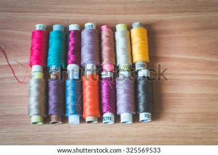 set of thread for sewing