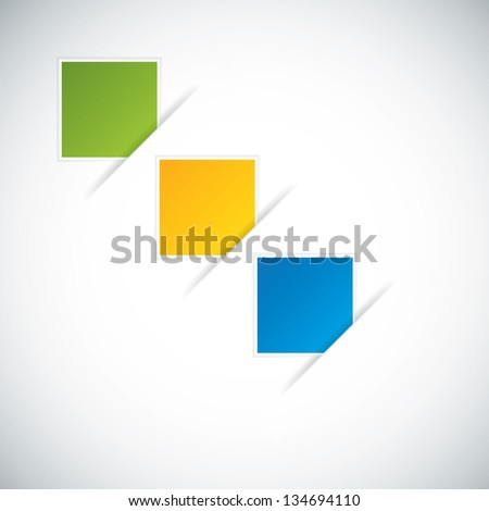 Set of three paper tag for your options - stock photo