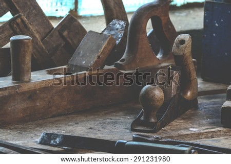 Set of tools for the carpenter