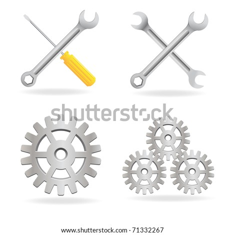 Set of tools icon. Vector available.