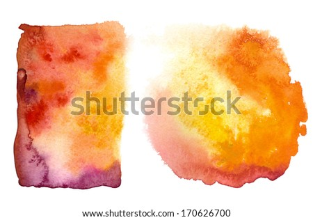 set of two pink orange backdrops - stock photo