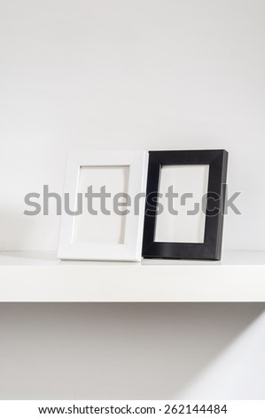 Set of two small photo frames - stock photo