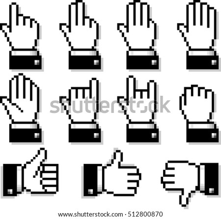 Set of Unusual Hand Cursors. Large format in full resolution, See other options in my portfolio.