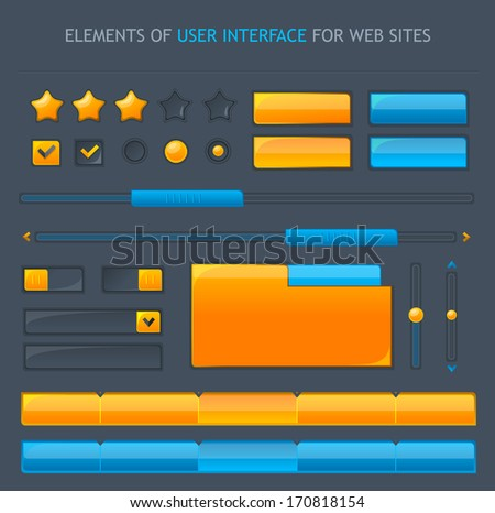 Set of user interface objects - stock photo