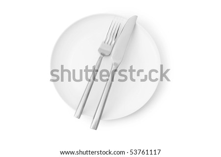 Set of utensils arranged on the table