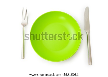 Set of utensils arranged on the table - stock photo