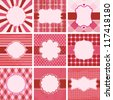 Set of valentine's day vintage backgrounds. Check my portfolio for vector version. - stock photo