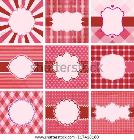 Set of valentine's day vintage backgrounds. Check my portfolio for vector version.