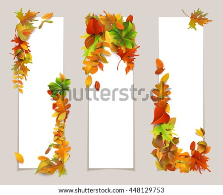 three autumn leaves maple stock photos royalty free images