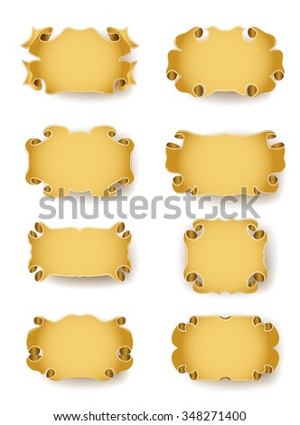 set of vintage frames with scrolls. JPG version - stock photo