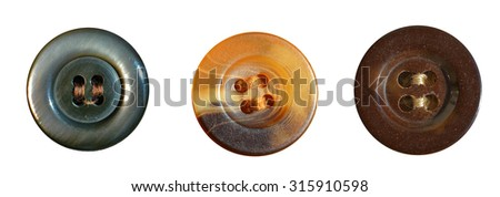 Set of vintage plastic buttons - stock photo