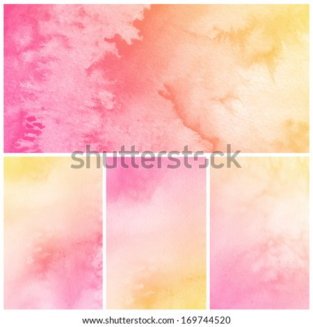 Set of Watercolor Background. - stock photo