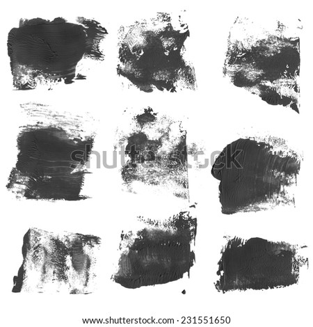Set of watercolor blobs, isolated on white background. Shape design blank watercolor colored rounded shapes web buttons on white background.  - stock photo