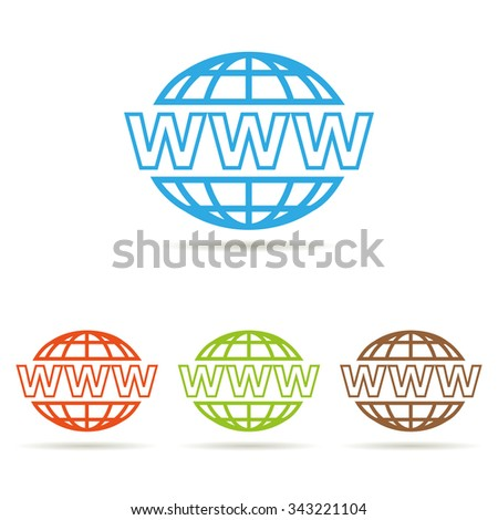 set of website icons - stock photo