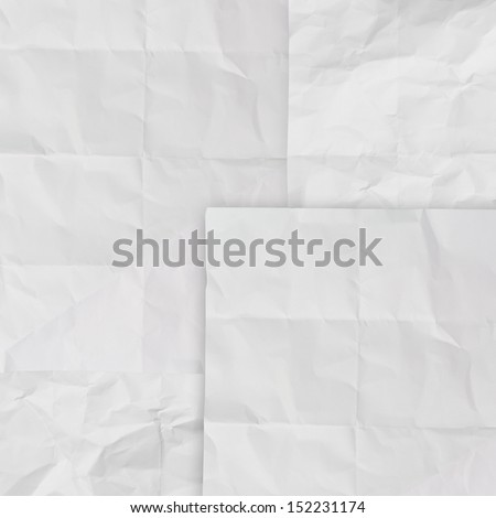 set of white crumpled paper background texture in composition