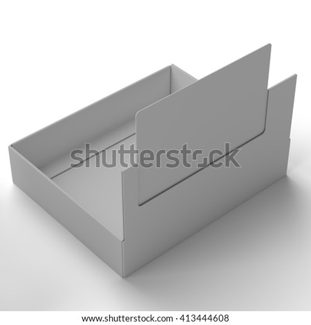 Set Of White Package Box. Cardboard Package Box. Set Of White Package Square For Markers, Felt Pens And Other Products. Ready For Your Design. 3D rendering.