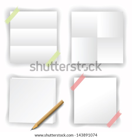 set of white papers for your design - stock photo