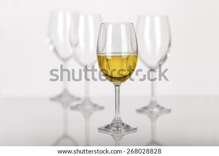Set of wine glasses - stock photo