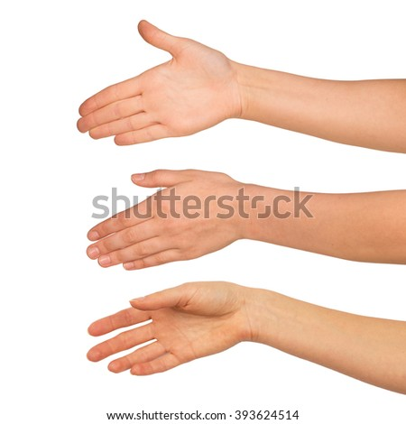 Set of woman arms - stock photo