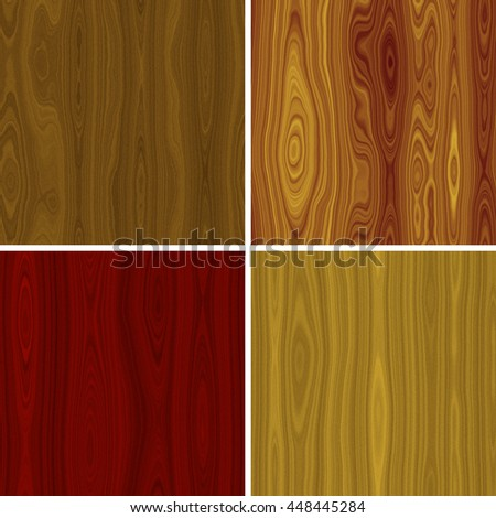 Set of wood seamless texture or background